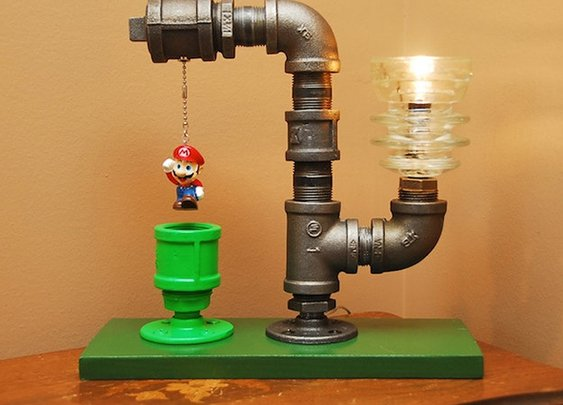 Mario Bros. Theme Industrial Pipe Lamp