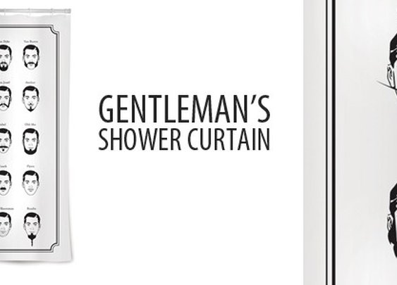 Buy Mustache Shower Curtain and other cool gifts for guys / Sirtified Bath