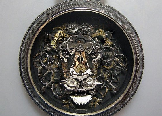 Steampunk Watch Part Sculptures by Sue Beatrice | Colossal