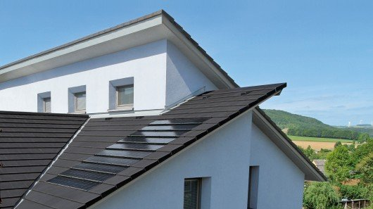 Stafier's solar roof tiles appear wafer thin