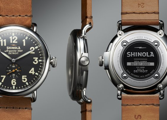 Shinola Limited Edition 40mm Runwell: Motor City-Made