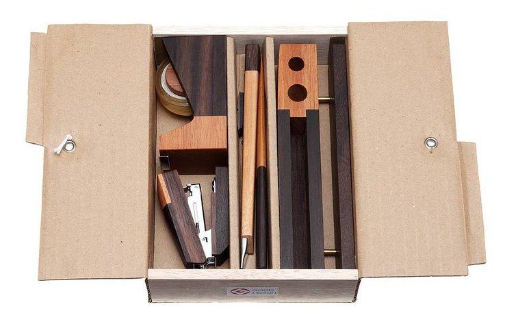 luxury wooden deskset by e-side   notonthehighstreet.com