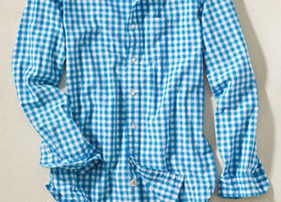 Checkered Poplin Shirt - Tops - Button Down - Shop - StyleSeek
