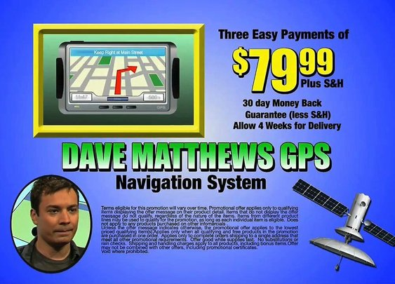 Dave Matthews GPS - Late Night with Jimmy Fallon