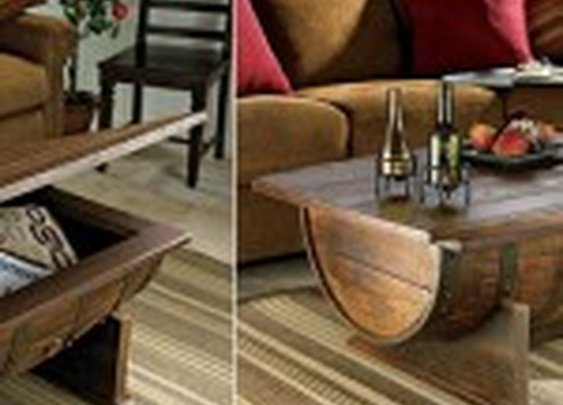 Whiskey Barrel Coffee Table | inStash