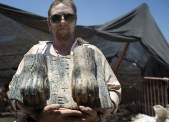 Unique Egyptian sphinx unearthed in north Israel