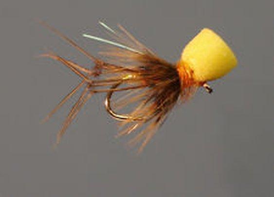 12 Pack Trout Fly Amber Popper Hopper Size 10 | eBay
