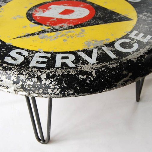 dunlop sign coffee table by something or other   notonthehighstreet.com
