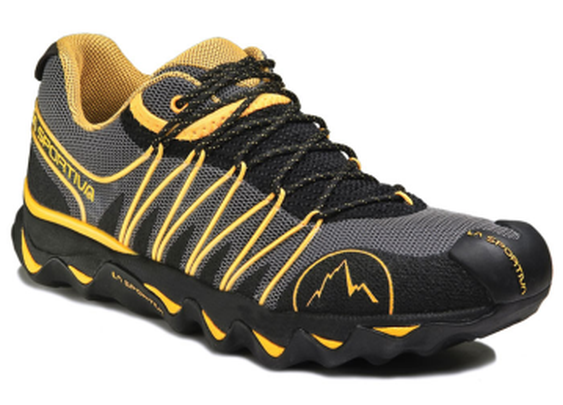 BUYSTAND | La Sportiva Quantum Trail Running Shoe Mens - Black / Yellow 44