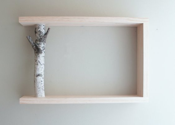 White Birch Forest Wall Art/Shelf