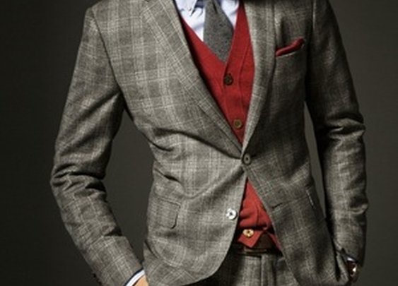 Cashmere Blend Checked Blazer