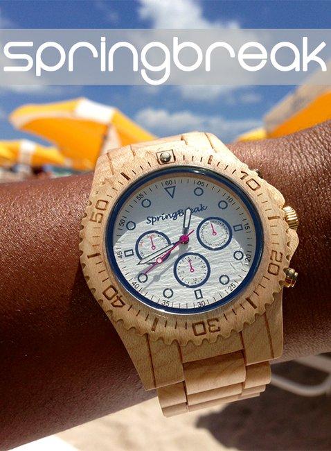 SpringBreak Wood Watch   That Should Be Mine