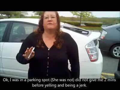 Watch: Prius-driving woman goes mental over diesel truck in parking lot | Rare