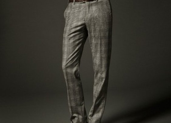 Cashmere Blend Checked Trousers