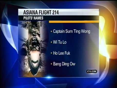 Asiana Pilots names from KTVU News - YouTube