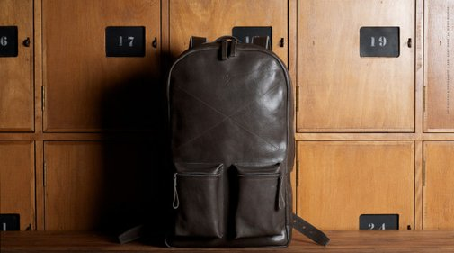 Old School Leather Backpack