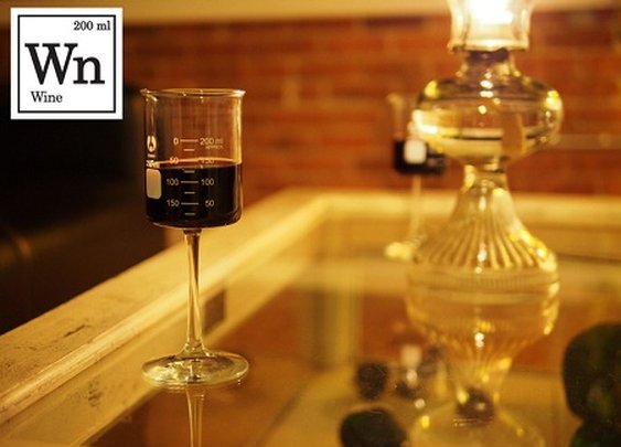 Periodic TableWare Wine Glasses