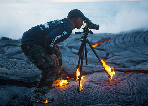 What happens when you get too close to lava...
