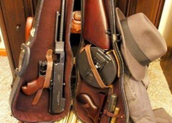 Tommy Gun Concealed in Violin Case | StashVault