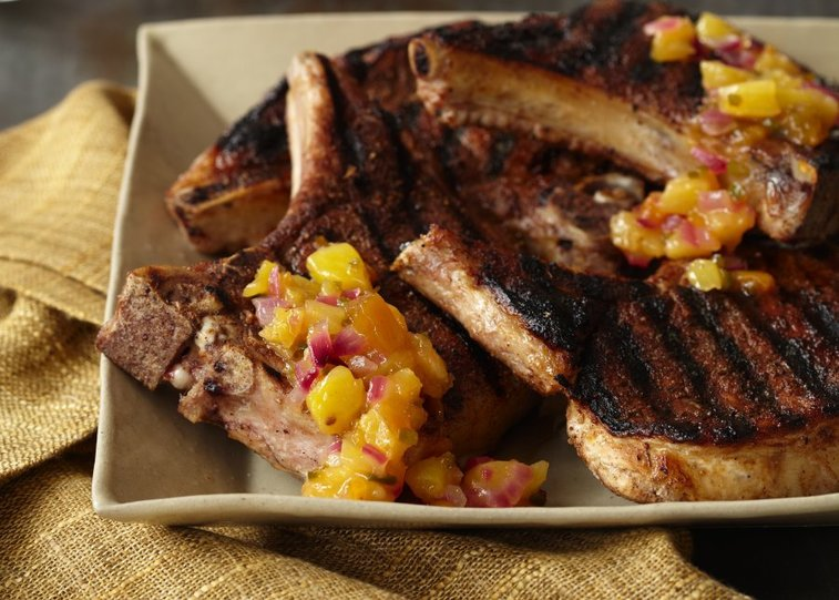 Check out this jerk me sweet pork chop recipe for a quick way to get bold flavor from your chops. | Food Republic