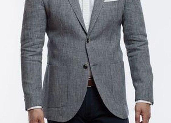 Bruno Guncheck Linen Jacket