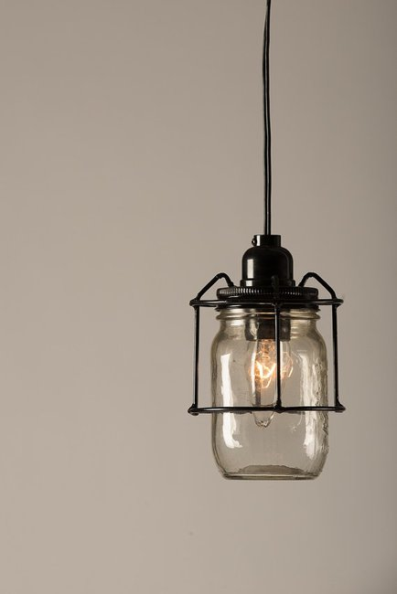 Hanging mason jar light