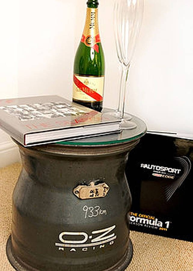 f1 front wheel rim glass table by memento exclusives   notonthehighstreet.com
