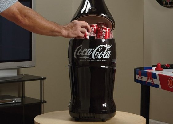 Retro Coca-Cola Bottle Fridge - HisPotion