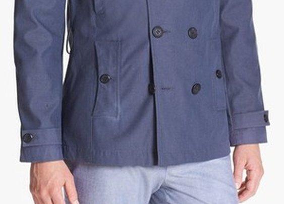 'Balham' Double Breasted Mac Jacket