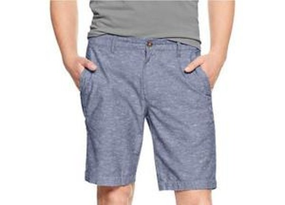 Slub Flat Front Shorts