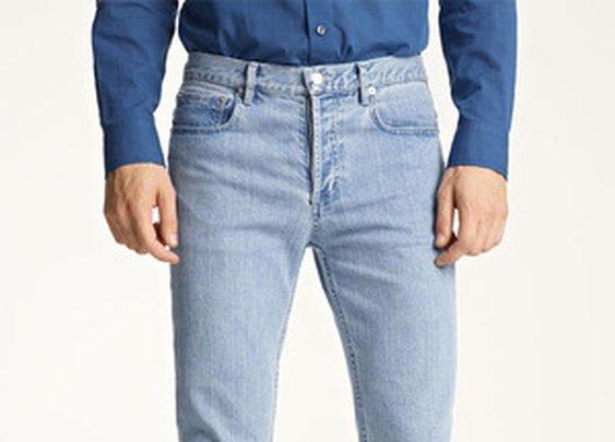 'Petit New Standard' Slim Straight Leg Jeans