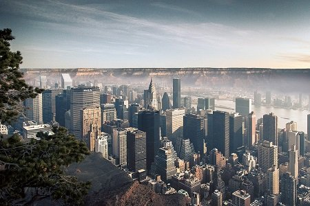 What Manhattan in the Grand Canyon Would Look Like