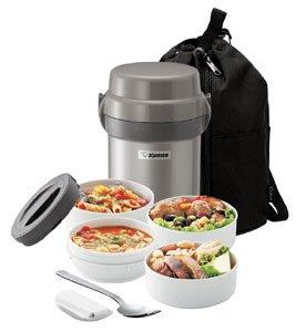 Zojirushi Gun Metallic Stainless Lunch Jar