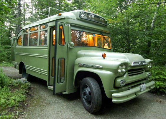 On the Road: A Makeover for a Maine Bus: Remodelista