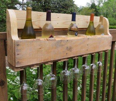 DIY Pallet Wine Rack - Sweet Pea