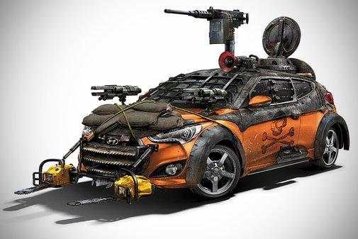 Hyundai Walking Dead Veloster Zombie Survival Machine