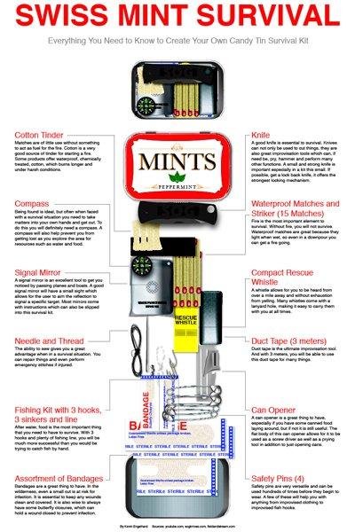 Survival Kit in an Altoids Tin