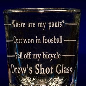 Graduated Bar Shot Glass | Customized Bar Shot Glasses by Glass with a Twist