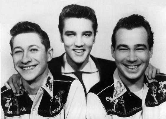 Scotty Moore, Elvis Presley, Bill Back