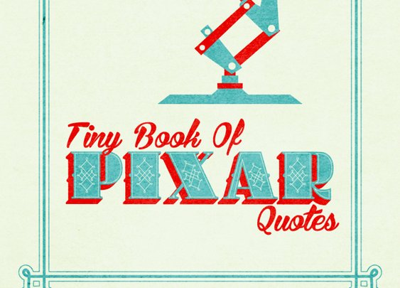 Pixar Typography Book | The Coolector