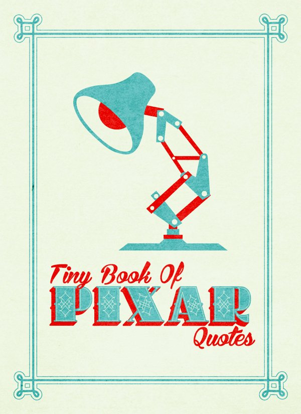 Pixar Typography Book | The Coolector