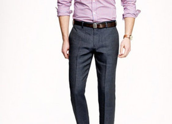 Ludlow Slim Suit Pant in Italian Linen-Wool