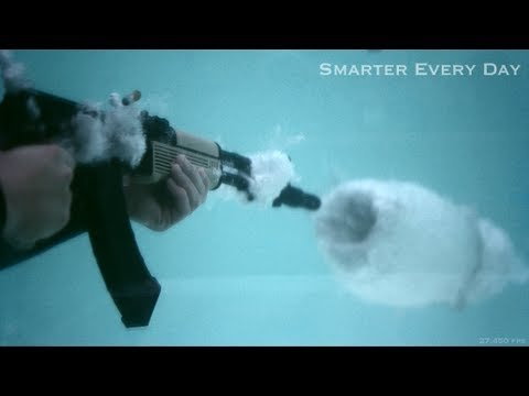 AK-47 Underwater at 27,450 frames per second