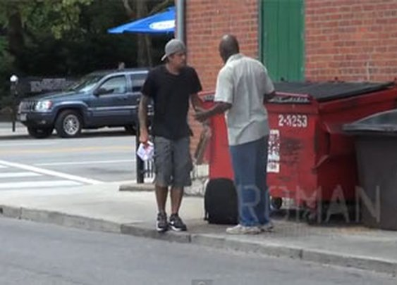 Watch This Guy Pull a Prank on a Homeless Person