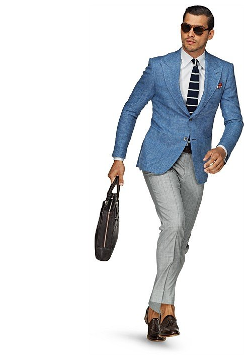 Jacket Light Blue Plain Washington C553 | Suitsupply Online Store