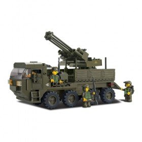 Armored Anti Aircraft Truck - LEGO Compatible
