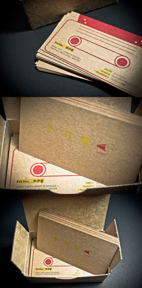 Eva Hsu Radio DJ Business Card Designed by Lee-Tzu Mao
