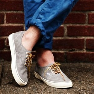 Washed Canvas Authentic Sneakers