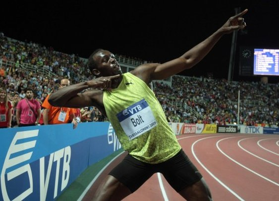 The physics of the world's fastest man