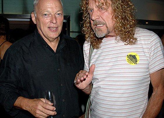 David Gilmour and Robert Plant